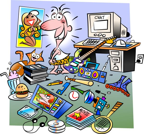 Drawing Room Clipart Girls Messy Room Clipart