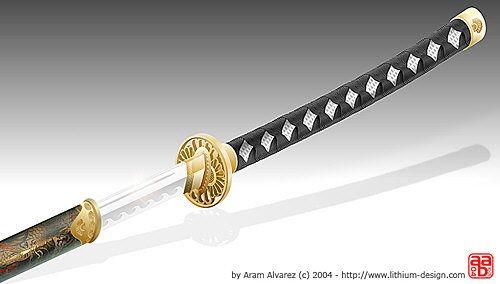 Armas y jutsus de kenta  Aram-katana