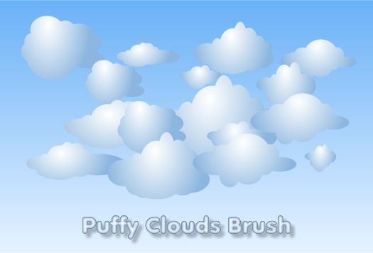 Puffy Clouds Brush