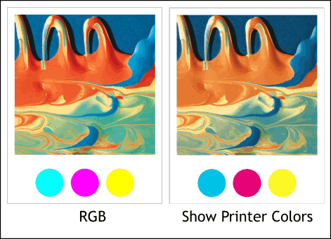 show printer colors tip