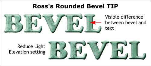 rounded bevel tip